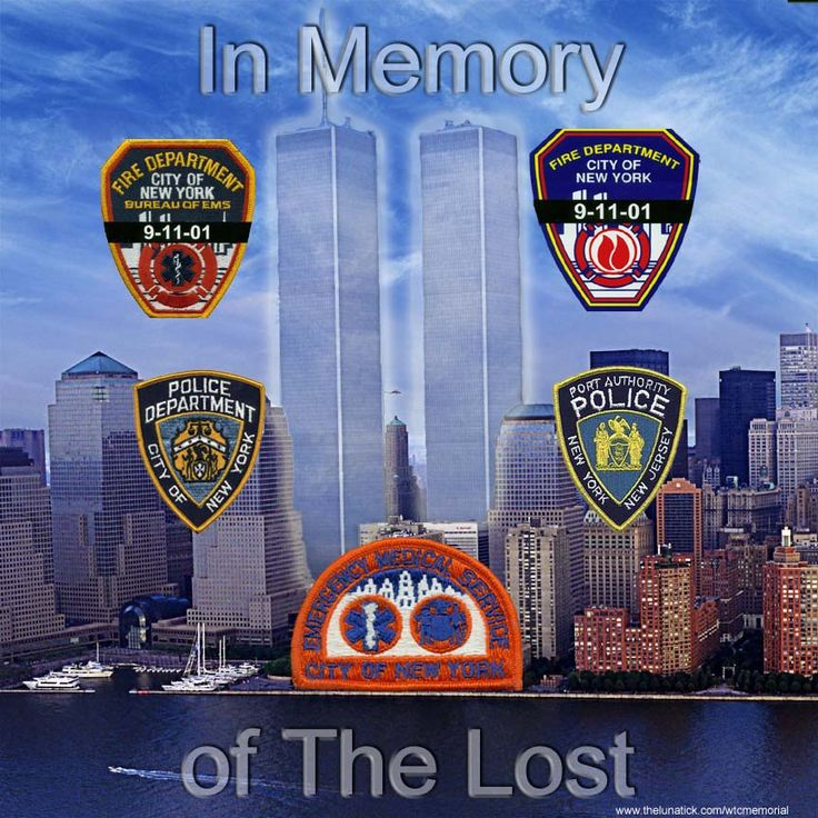 911 September 11, 2001 Never Forget Firefighters, Police and the EMS who served so bravely - remembering all of the victims.