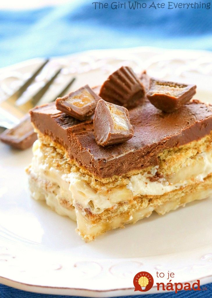 Vynikajúci dezert bez pečenia z maslových sušienok, banánov a vynikajúceho vanilkovo-čokoládového krému. Je skutočne fantastický
