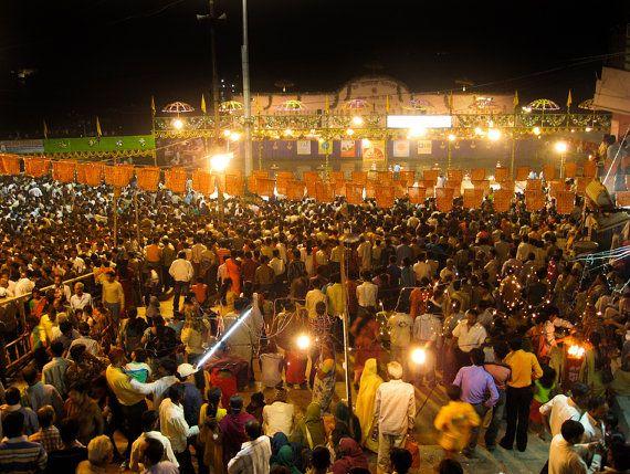 Dev Diwali Crowd Varanasi India 8X10 Photograph chamelagiri.etsy.com