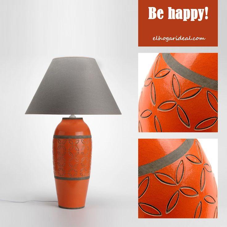 En tiempo de naranjas me quedo con esta original lámpara de terracota con tulipa de tela. http://elhogarideal.com/es/iluminacion/556-lampara-big-club.html#.VnEdqvnhC1t