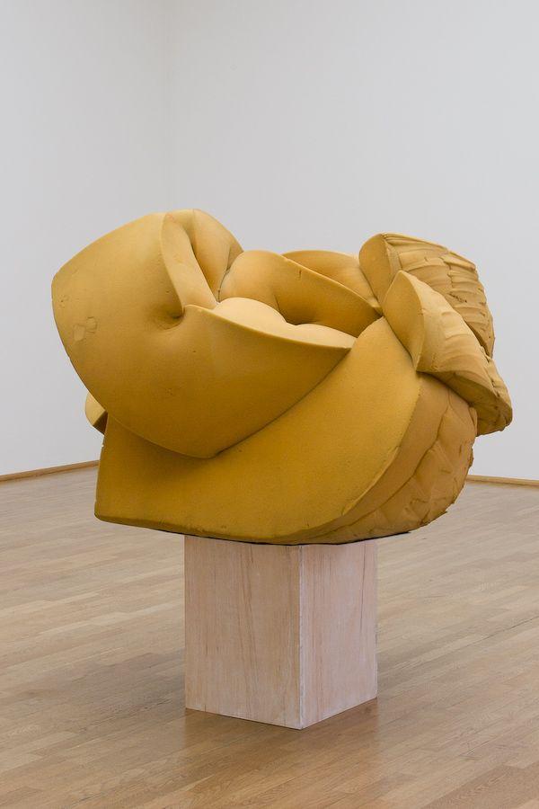 Rope tied around urethane foam, by John Chamberlain via arttattler/Museum für Moderne Kunst Frankfurt.