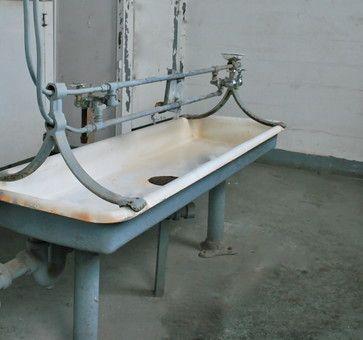 The Trough Sink traditional bathroom sinks - rehab