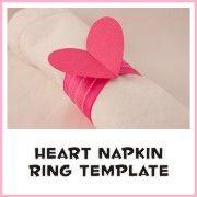 Heart Napkin Ring Template