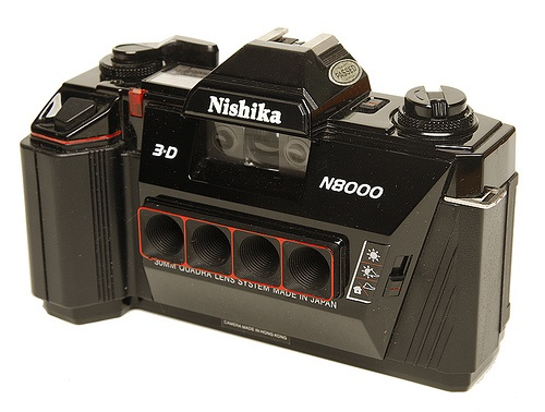 My 3-D camera Nishika 8000, really neat pictures. sadly no one left in the world who develops them.