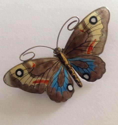Sterling Silver & Enamel ' Marius Hammer ' Butterfly Brooch | eBay