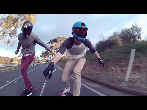 Contour Camera in Action downhill longboarding