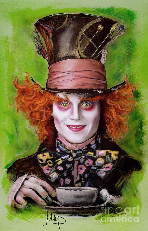 Johnny Depp As Mad Hatter By Melanie D Mad Hatter Drawing Alice In Wonderland Tattoo Sleeve Wonderland Tattoo