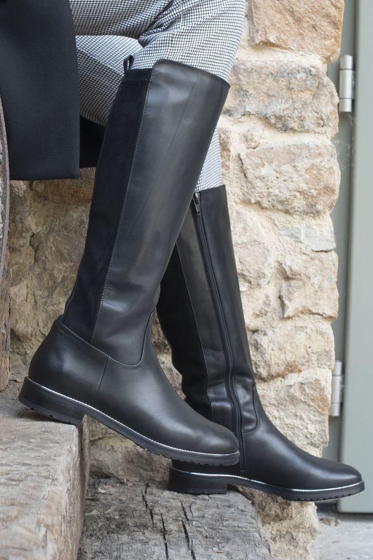 Czarne Kozaki Damskie Stiefel