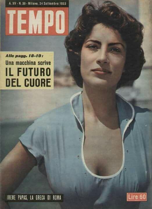 """Η Ειρήνη Παπά στο """"TEMPO"""" ~ Σεπτέμβριος 1953"""