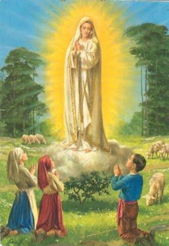 Pin De Jorge Enrique Tenorio Ramos En Pintura Virgen D Fatima En