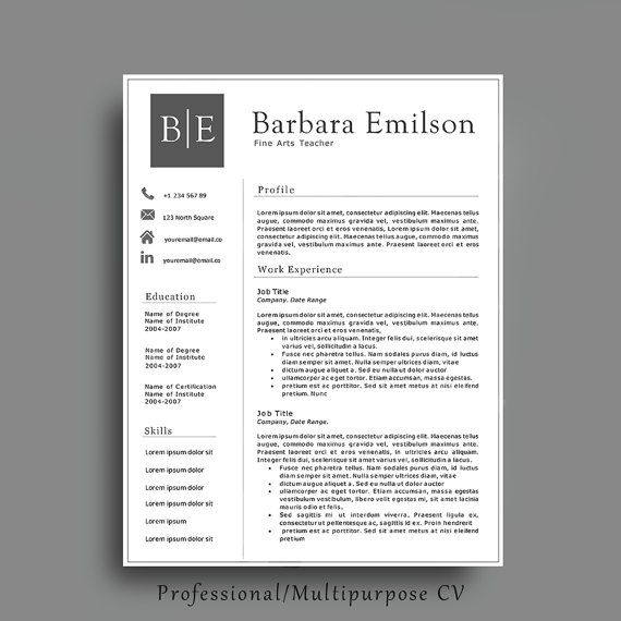 Proffesional Resume Template Interesting 20 Best Professional Resume Templates Images On Pinterest  Resume
