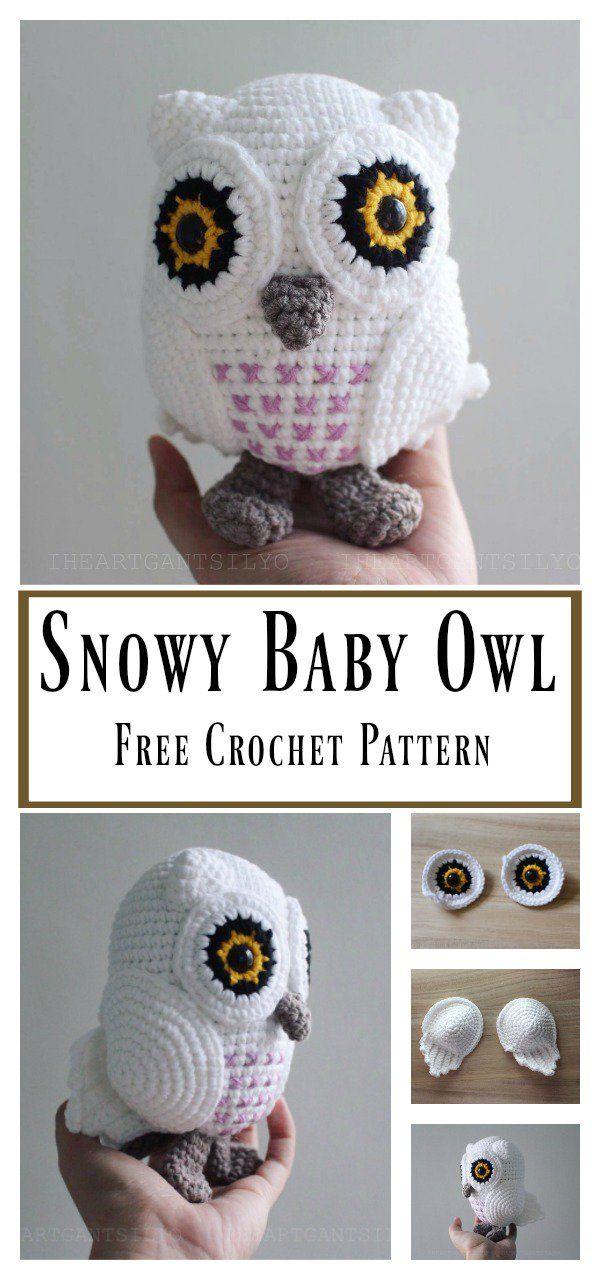 Snowy Baby Owl Amigurumi Free Crochet Pattern