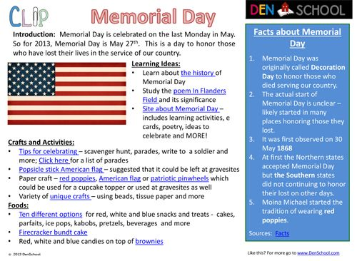 #homeschool; #education; #DenSchool; #Memorial Day; FREE CLIP (Creative Learning in a Pinch) for Memorial Day; FREE Printables; FREE Printable worksheets for Memorial Day