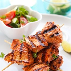 BRAAI: BBQ chicken skewers