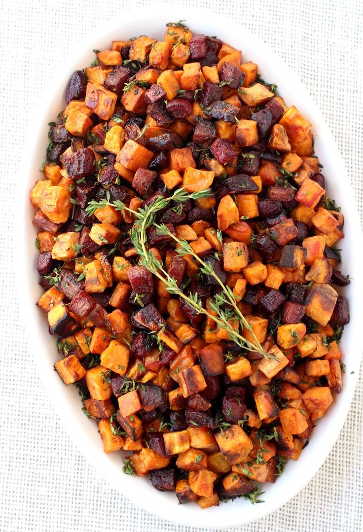 Roasted Beets and Sweets in Brown Butter Maple Glaze are going to be your go-to side dish this year for Thanksgiving dinner!