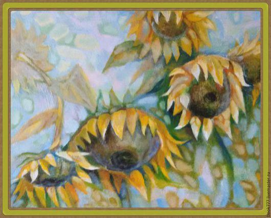Картины цветов ручной работы. Ярмарка Мастеров - ручная работа. Купить Ещё вчера их рисовало солнце ( х.м ). Handmade.