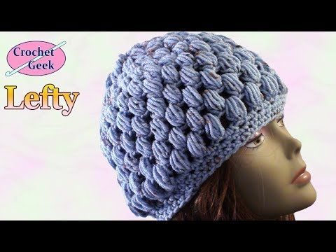 Crocheting Instructions For Left Handers : Left Hand Crochet Puff Stitch Hat Lefties crochet patterns ...