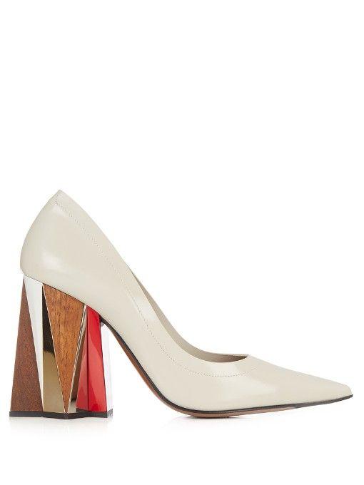 MARNI Leather block-heel pumps. #marni #shoes #pumps