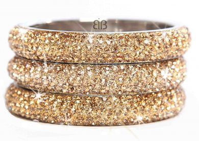 Slim Gold Sparkling Bangle