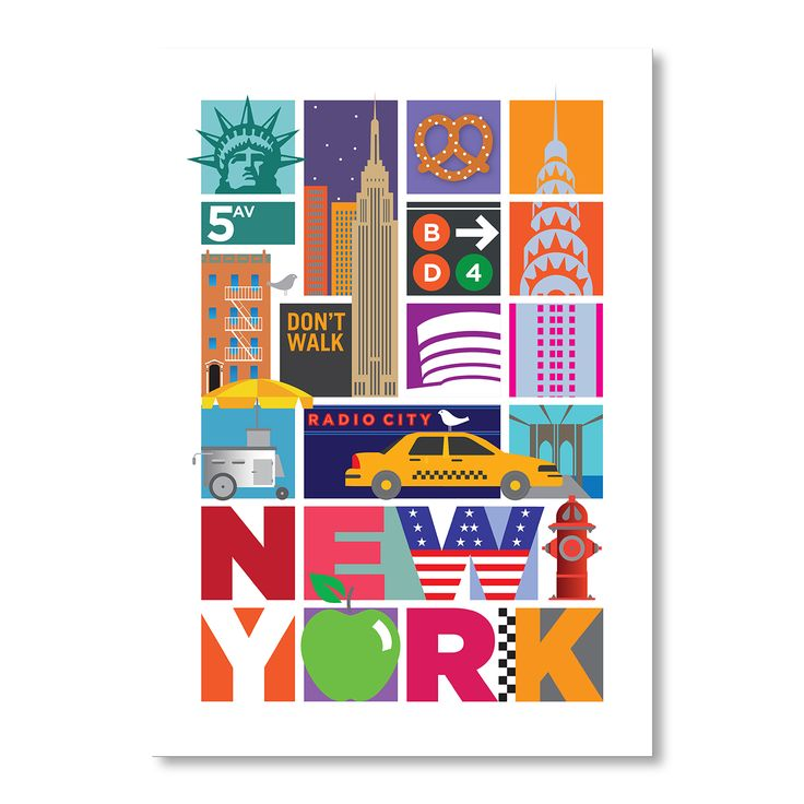 New York | A2 Print by Rummage Sale on brandsExclusive