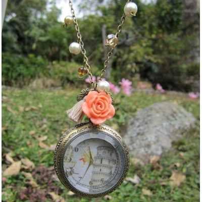 Collar Reloj Torre De Pisa Italia Toscana Vintage