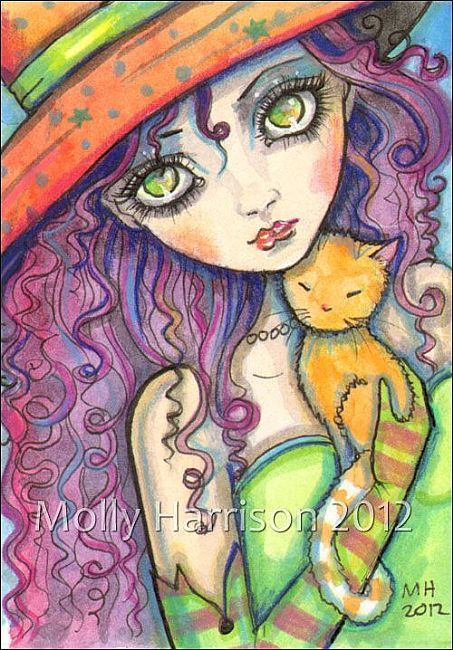 Art: olivia and ginger ACEO full by Artist Molly Harrison. (scheduled via http://www.tailwindapp.com?utm_source=pinterest&utm_medium=twpin&utm_content=post48041088&utm_campaign=scheduler_attribution)