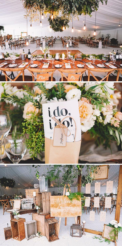 Rustic boho marquee wedding reception | Popcorn Photography