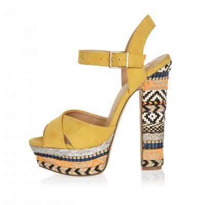 Yellow Suede Platform Heels xx