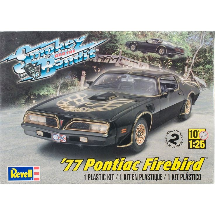 Revell Plastic Model Kit-'77 Smokey And The Bandit Firebird 1:25 - '77 smokey and the bandit firebird 1:25 '77 smokey and the bandit firebird 1:25