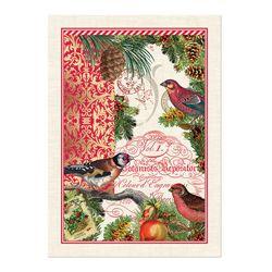 Michel Design Works Cotton Kitchen Tea Towel Christmastime Birds New Part 71