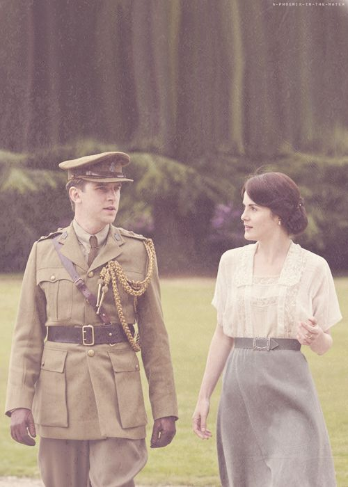 walking and talking; during the war episodes, the clothes were simpler, yet the drama more intense