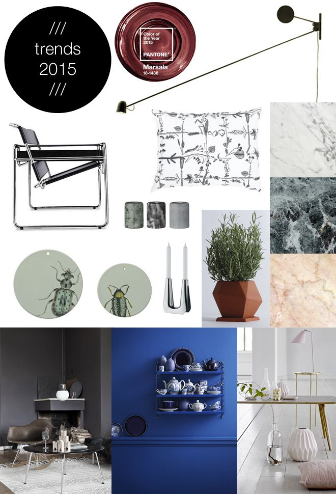 Sisustustrendit 2015 / Interior decoration trends for 2015
