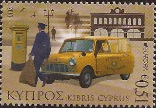 "europa stamps: Cyprus 2013 - Europa 2013 ""The postman van"" celebrating PostEuropa's 20th anniversary - 1993-2013"