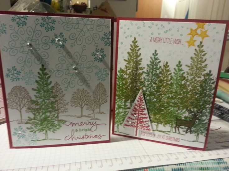 These got a little crazy. Festival of trees. Lovely as a tree. Endless wishes. White Christmas. Stampin up.
