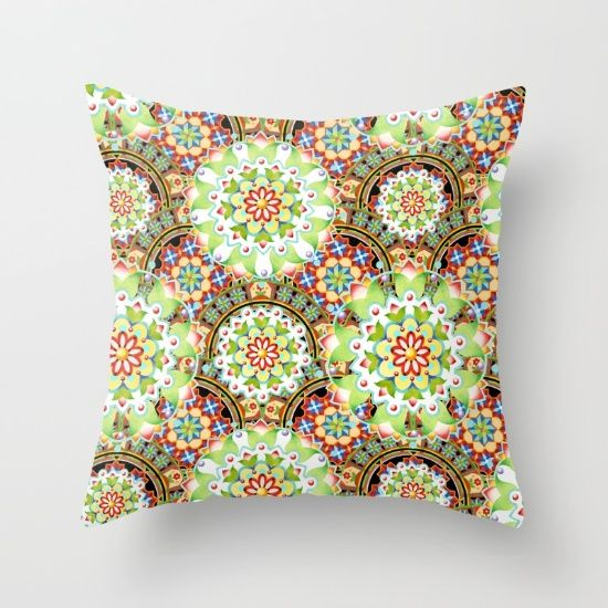 Carnival Mandala Square Pillows by #PatriciaSheaDesigns on #Soceity6