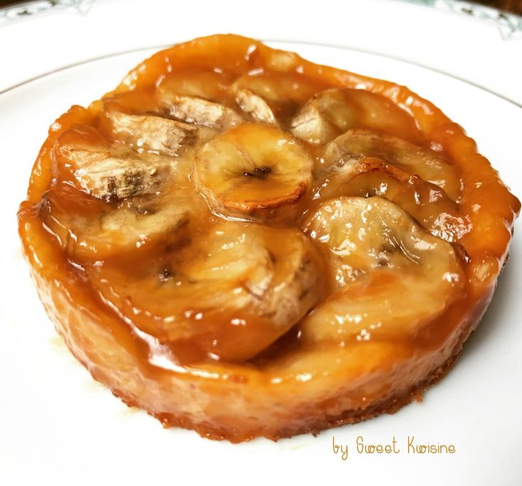 Tarte à la banane et au caramel au beurre salé - recette facile by Sweet Kwisine