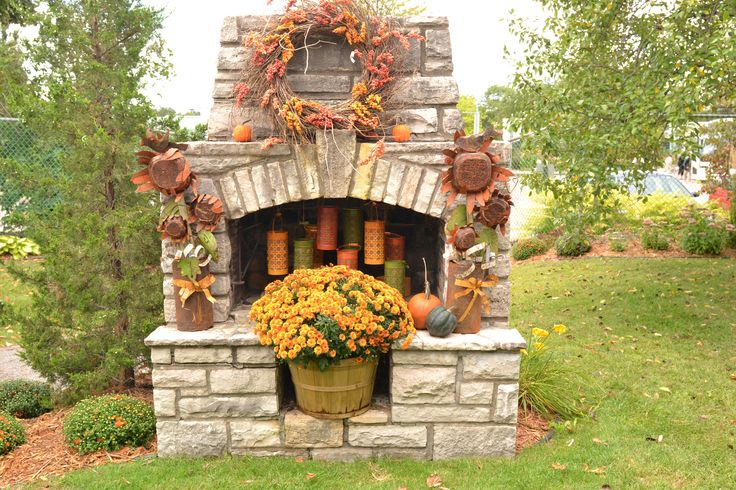 Decorate your outdoors with mums, pumpkins, and wreaths