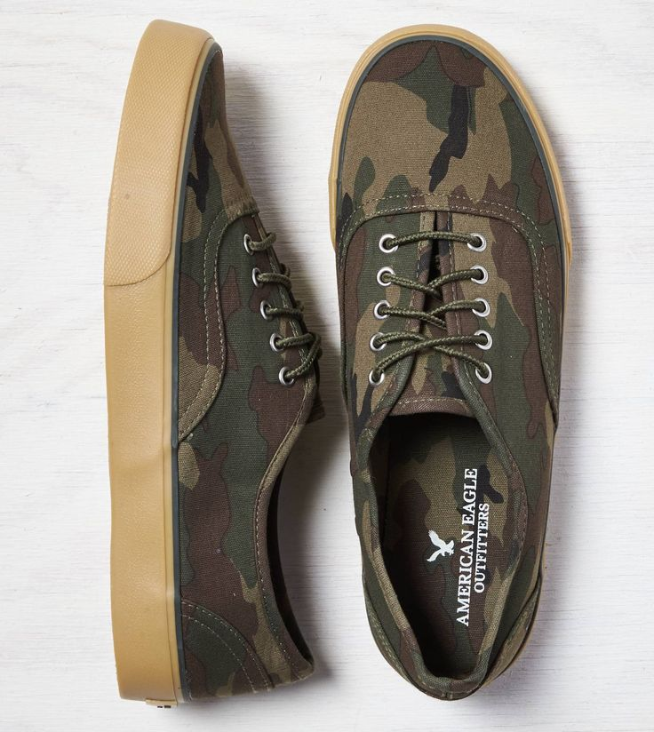 Camo Print AEO Camo Sneaker. Show us your #AEOSTYLE on Instagram or Twitter for a chance to be featured on AE.com.