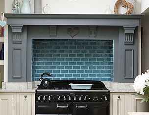 love the combo of the grey and the tile