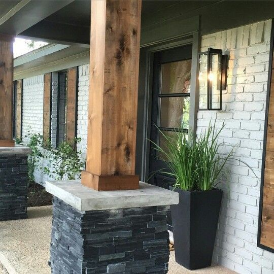 Image result for white brick rock timber look