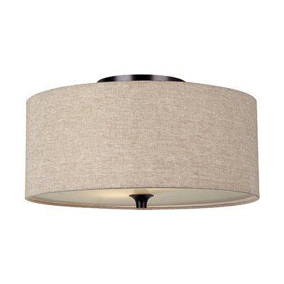 Sea Gull Lighting 75952 2-Light Stirling Flush Mount Ceiling Light  could stencil it...........
