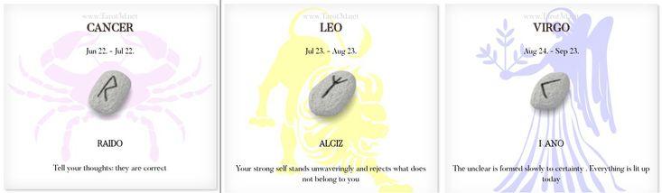 Daily Runescope 1/4/2018 https://www.tarot3d.net/tagesrune/en/horoscope  #Horoscope #Zodiac #cancer #leo #virgo