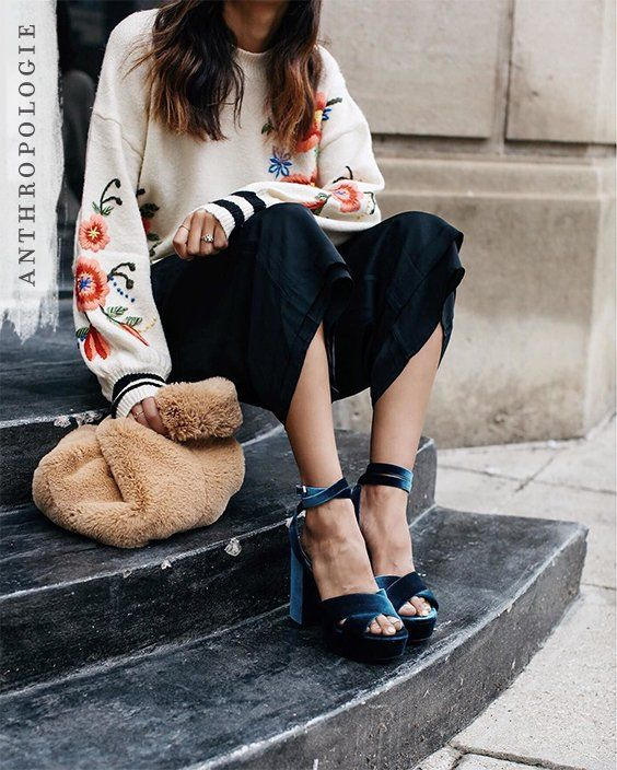 The Gardenstripe Embroidered Pullover is the fall sweater you're looking for | Shop Anthropologie  @discodaydream
