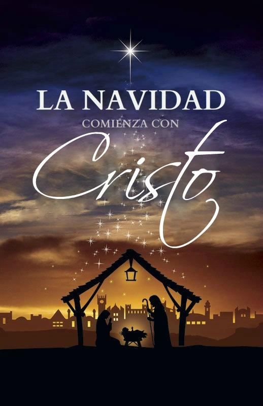 """Mi traduccion editada en Espanol """"La Navidad comienza con Cristo"""""""