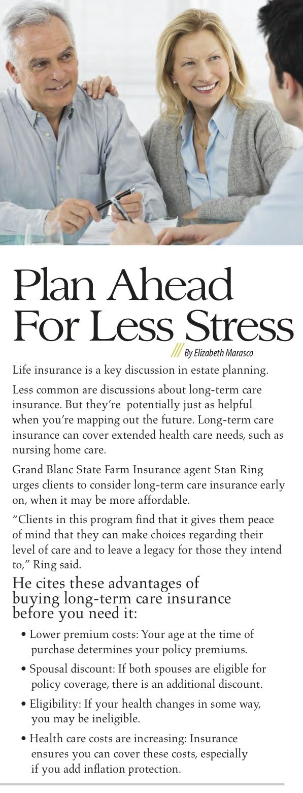 Long term insurance - prepare for the future now.