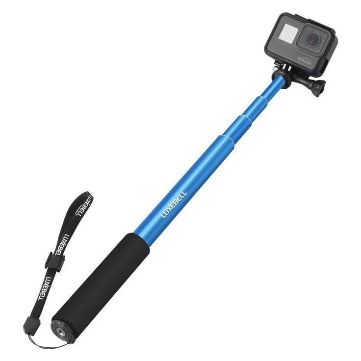 GoPro Hero 5 Sessions Selfie Stick Adjustable Telescoping Monopod Pole Blue #GoProLuxebell