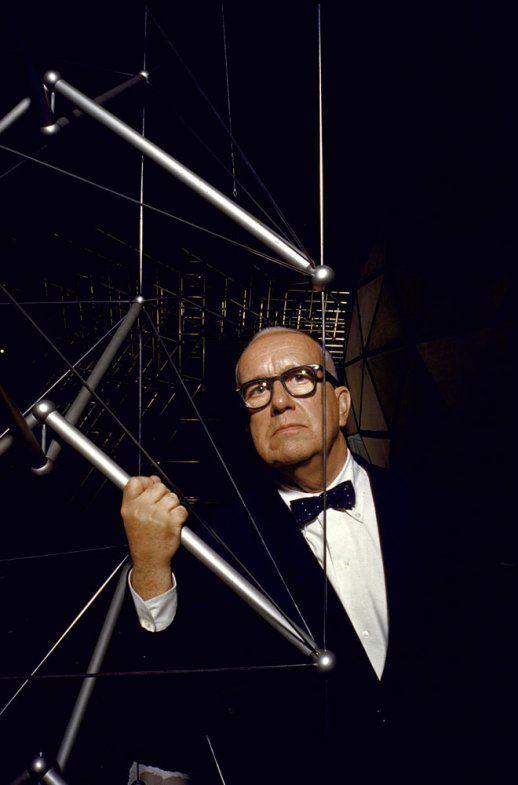 Buckminster Fuller explaining his Dymaxion, 1959 #architectspecs
