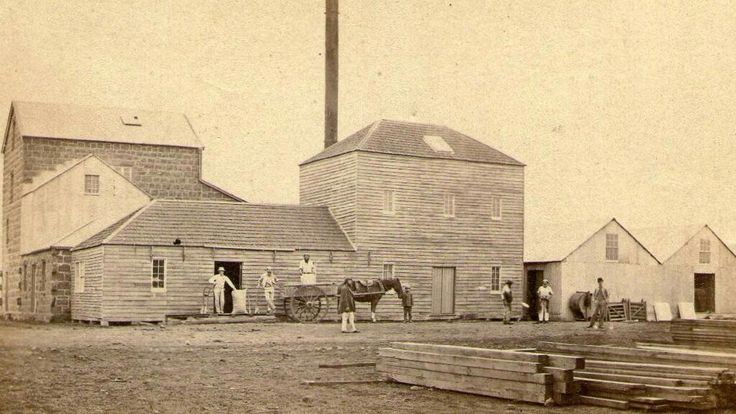 Mortlake Flour Mill in Victoria (year unknown).