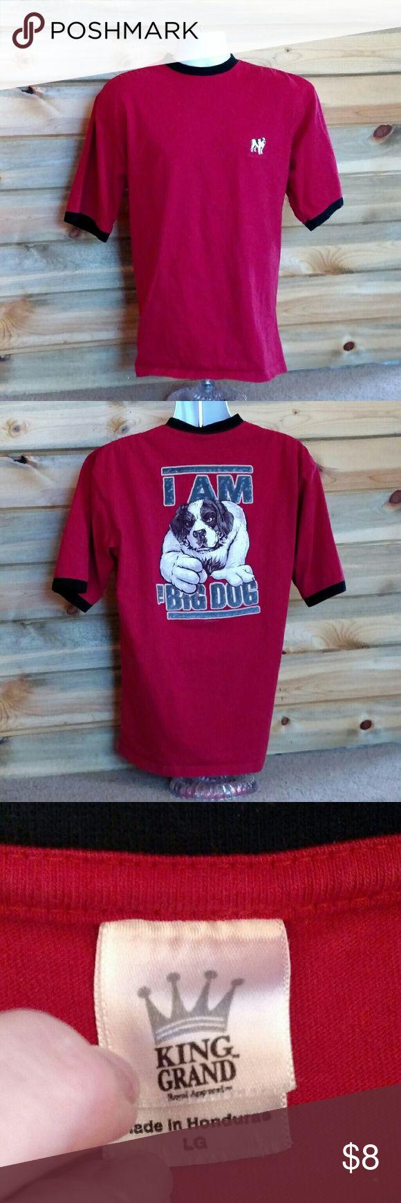 Old school Big Dog t-shirt Let's go old school! Nice, GUC Big Dog t-shirt. No rips, holes or stains. Smoke-free home. Big Dog Shirts Tees - Short Sleeve