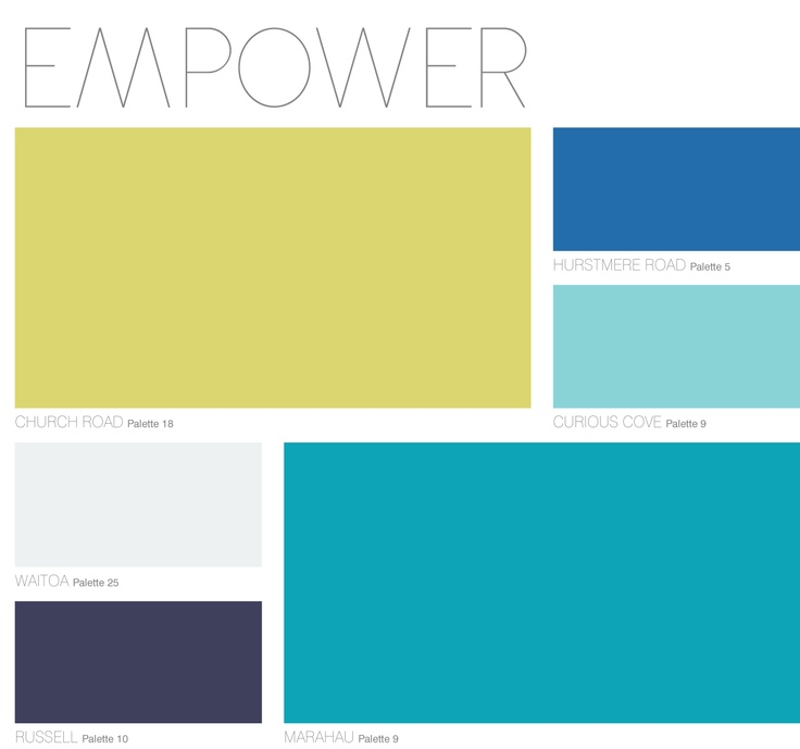 EMPOWER Palette from Dulux Colour Forecast 2013